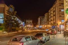 Avenida Sant Joan de Caselles em Canillo, Andorra fotos de stock royalty free