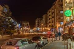 Avenida Sant Joan de Caselles em Canillo, Andorra imagens de stock