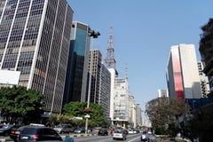 Avenida Sao Paulo de Paulista Foto de archivo libre de regalías