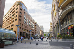 Avenida septentrional Yerevan, Armenia 17 de agosto de 2016 Imagen de archivo libre de regalías