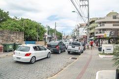 Avenida Vereador Manoel Jose DOS Santos, Bombinhas arkivbilder
