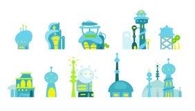 Avenir de ville fantastique illustration de vecteur