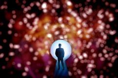 Avenir lumineux de nuit foncée Image libre de droits