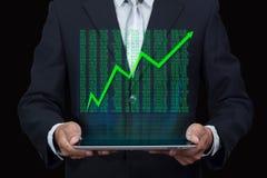Avenir, technologie, affaires et concept de personnes Affaires de succès Photo stock