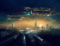 Avenir urbain de paysage Photographie stock