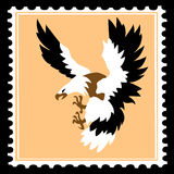 Avenous bird on postage stamps Stock Image