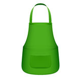 Avental verde da cozinha Fotos de Stock
