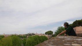 Aventine小山视图,罗马,意大利 股票录像