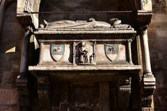 Aventino Fracastoro funerary monument from San Fermo Maggiore ch Royalty Free Stock Photography