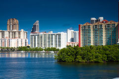 Aventura. Beautiful new conominiums on Intracostal in Aventura Florida Stock Images