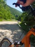 Aventura al aire libre de la bici Fotos de archivo
