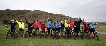 Aventura Biking de la montaña Foto de archivo libre de regalías