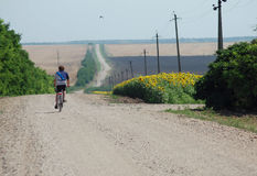 Aventura da bicicleta Fotografia de Stock
