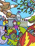 Aventura da criança: Passeio da bicicleta Imagem de Stock Royalty Free
