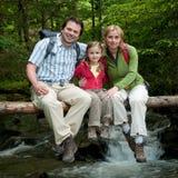 Aventura da família Fotografia de Stock Royalty Free