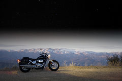 Aventura de la moto imagen de archivo