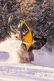 Aventura de la moto de nieve Foto de archivo libre de regalías