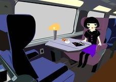 A aventura de Mimmy no trem ilustração royalty free