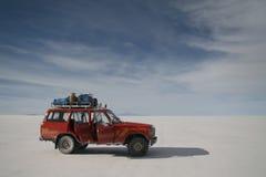 Aventura de Salar Uyuni. fotografia de stock royalty free