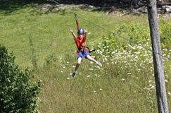 Aventura de Zipline Fotografía de archivo libre de regalías