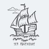 Aventura del mar Stock de ilustración