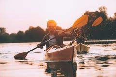 Aventura del río Imagen de archivo libre de regalías