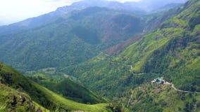 Aventura del viaje Visión desde el pequeño pico del ` s de Adán, Sri Lanka metrajes