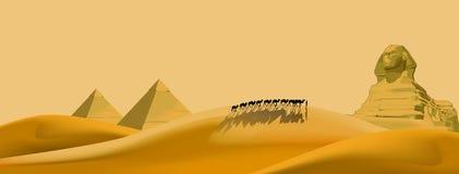 Aventura do deserto ilustração royalty free