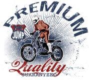 Aventura do motocross ilustração royalty free