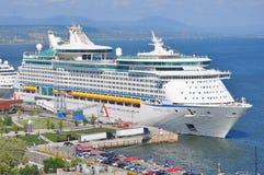Aventura do navio de cruzeiros dos mares fotos de stock