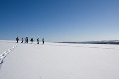 Aventura do sapato de neve fotos de stock