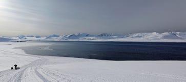 Aventura em Svalbard Fotos de Stock Royalty Free