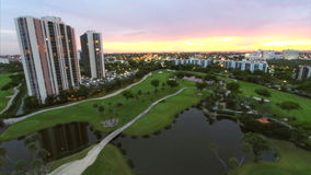 Aventura Florida aerial video Stock Photography