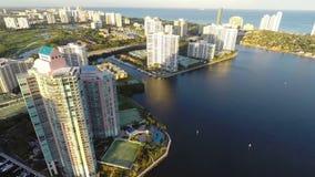 Aventura Florida Aerial stock footage