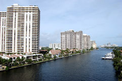 Aventura Florida Condos on the Intercoastal Royalty Free Stock Photos
