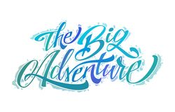 A aventura grande ilustração stock