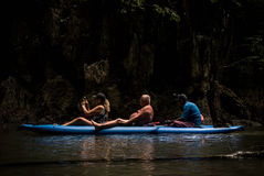 Aventura larga do caiaque Fotografia de Stock Royalty Free