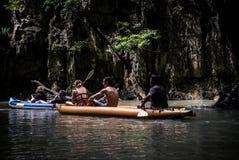 Aventura larga do caiaque Foto de Stock