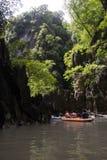 Aventura larga do caiaque Fotografia de Stock
