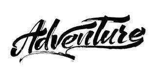 aventura Letras modernas de la mano de la caligrafía para la impresión de la serigrafía Imagen de archivo libre de regalías