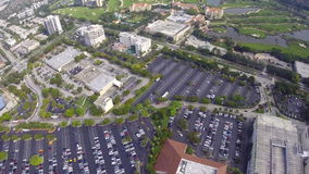Aventura Mall and Golf Club stock footage