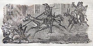 Aventuras de Sir Quixote del La Mancha ilustración del vector