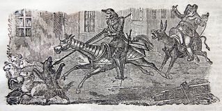 Aventuras de Sir Quixote do La Mancha ilustração do vetor