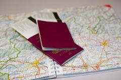 Aventuras del pasaporte Imágenes de archivo libres de regalías