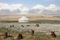 Aventuras del viaje de Pamir Fotografía de archivo