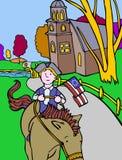 Aventuras do miúdo: Cavaleiro colonial Foto de Stock Royalty Free