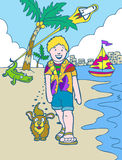 Aventuras do miúdo: Férias de Florida Fotografia de Stock