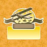 Aventuras e emblema do curso Foto de Stock Royalty Free