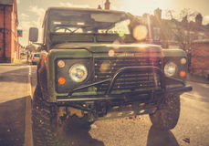 Aventuras por Land Rover automobilístico Fotografia de Stock Royalty Free