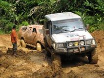 Aventure à quatre roues en Malaisie Images stock